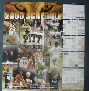 Pittsburgh Panthers--2005 Athletics Schedule Poster--Papa John's Pizza
