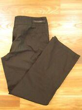 Prada Sport Black Cotton Nylon Casual Athletic Golf Pants Cropped Size 6      b9