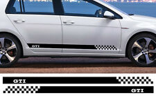 2 X BANDES NOIR POUR VW GOLF GTI 180cmX8,5cm AUTOCOLLANT STICKER AUTO BD566