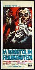 CINEMA-locandina LA VENDETTA DI FRANKENSTEIN cushing,gayson,matthews,FISHER