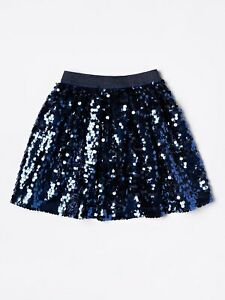 John Lewis & Partners Girls' All Over Sequin Skirt / Navy Choose Your Size