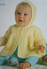 Baby's Hooded Matinee Jacket/Coat Knitting Pattern