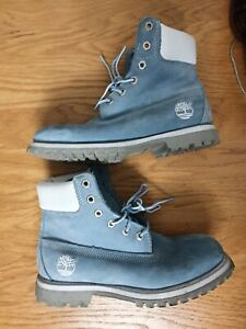 vintage mens  2000s nubuck blue   timberland  boots  uk  8 very good condition