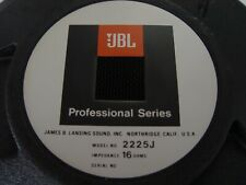 Jbl 2225 J 15 inch 16 Ohm Professional Series Bass Driver New Old Stock