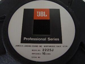 JBL 2225 J 15 inch 16 Ohm Professional Series Bass Driver   NEW  OLD  STOCK