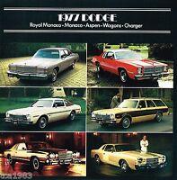 1977 Dodge ASPEN/CHARGER/ROYAL/MONACO/Station Wagon Brochure/Catalog
