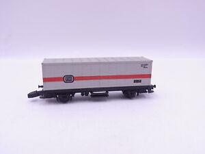 90757 Märklin Mini Club 8615 Wagon Transport de Conteneurs avec DB Pour Voie Z