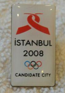 Istanbul 2008 Summer Olympic games bid pin (yellow metal, enamel, pin back)
