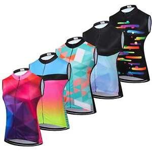 Women's Cycling Vest Top Reflective Sleeveless Bike Cycle Jersey Shirt S-5XL