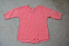 Old Navy Pink High Low Silky Feel V-Neck Blouse Size Large