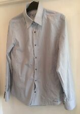 Mens River Island Striped Long Sleeve Shirt Size Small
