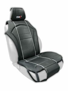Type-S Universal Race Sport Black Cushioned Front Seat Cover