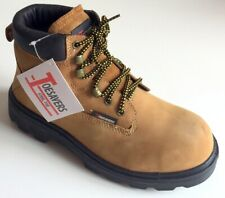 Safety Boots Unisex Toesavers Tan Nubuck Steel Toe Cap Safety Work Boots, UK 7