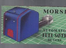 Morse Automatic Fuel-Saver De-Luxe 1936 brochure Morse Chain Co Ithaca NY