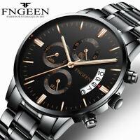 Men Luxury Stainless Steel Military Army Watch Analog Sport Quartz Wrist Watch