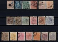 P135054/ SPAIN STAMPS – YEARS 1874 - 1882 USED CLASSIC LOT – CV 120 $