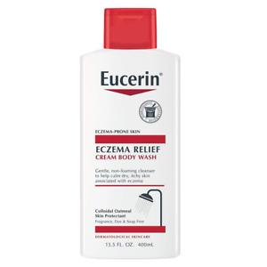 Eucerin Eczema Relief Cream Body Wash Gentle Cleanser for Eczema-prone Skin, 13.