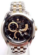 Citizen Eco-Drive Mens Calibre 8700 Two Tone  Blk Dial Watch BL8004-53E