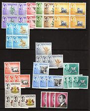 Lesotho;1967 Definitives; Four sets of 12 values; unmounted mint UMM