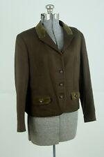 Tofana Womens Trachten Jacket Wool Size Medium Brown Bavarian German Blazer