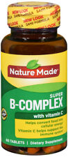 Nature Made Super B-Complex Essential Key B Vitamins + C Vitamins 60 CT
