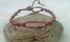 Bone Bead Hemp Bracelet Natural Brown Handmade Surfer Boho