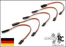5 Stück molinoRC® Servokabel Verlängerung * Servo Verlängerungskabel 15 cm BRD!