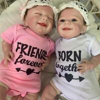 "22"" Handmade Soft Body Lifelike Newborn Babies Silicone Toller Reborn Girl Dolls"