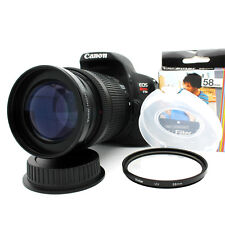 58MM 2.2xTelephoto Zoom Lens for Canon EOS Rebel T5i T5 T4i T3i T3 T2i SL1 XSi