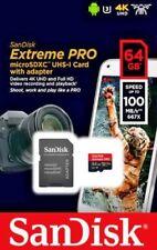 64GB SanDisk Extreme Pro micro SD XC Memory Card V-Class 30 U3 4K UHD A1 100MB/s