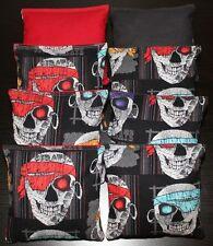 SKULL Cornhole Bean Bags 8 ACA Regulation Party Bags Halloween Skeleton Party