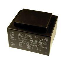 Hahn Print Trafo 230V Printtrafo 4,5VA 2x 15V Netztrafo Transformator 098327