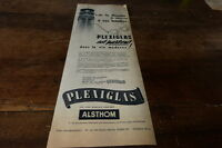 PLEXIGLAS - PARTOUT DANS LA VIE MODERNE  Publicité de presse / Press advert 1955