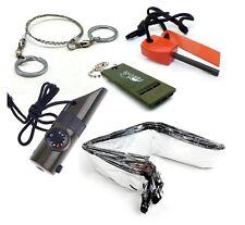 Survival Kit Whistle Fire Starter Wire Saw 7in1 Survival Kit Emergency Blanket