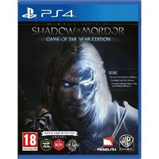 PS4 Game Middle Earth: Mordor's Shadow - Game of the Year Edition GOTY NEW