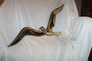 VTG 1963 Syroco Seagull Wall Hanging Flying Bird Gold Tone Plastic #4772 Vintage