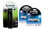 2 x 18650 Rechargeable Battery & Smart Charger by UNiROSS 2400 mAh FLAT TOP