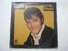 ELVIS PRESLEY LETS BE FRIENDS  RARE LP RECORD vinyl  USA ex