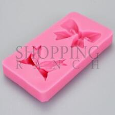 Present Bow Ribbon Silicone Mould Cake Cupcake Topper Decoration Mold