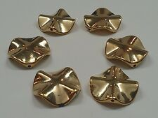 CCB Style Acrylic Beads, Golden, 26x26x6mm, Hole: 2mm Qty 6 Beads