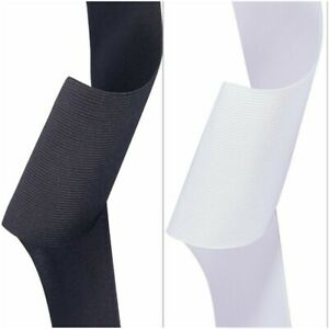 PREMIUM QUALITY WOVEN ELASTIC 4 INCH 100 MM-4 Inch WIDE BLACK and WHITE