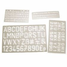 Large Plastic Letter Art Stencils Alphabet Drawing Templates for Kids Pack of 4