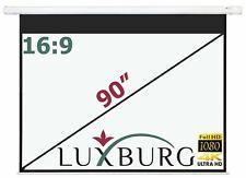 "Luxburg 90"" 203x115 Cm 16 9 Full HD 3d Electric Motorised Projector Screen"