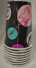 ROCKER GIRL 9 OZ PARTY CUPS 8 PACK HOT COLD CUPS