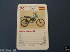 7-MOTOREN 7C BULTACO FRONTERA 80   KWARTET KAART MOTORCYCLES, SPIELKARTE