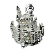 Sterling Silber Öffnung Cinderella Schloss Charm