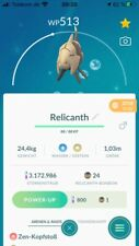 Pokémon Go Account mit regionalem Pokémon Relicanth