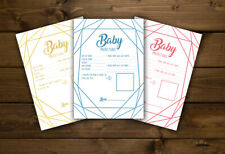 BABY PREDICTIONS- Shower Game Players Girl Boy Neutral Gender Reveal PINK BLUE