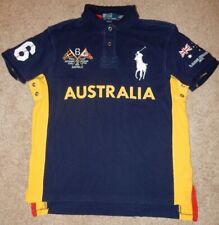 Polo Ralph Lauren Polo Blue Australia Rugby Large Custom Flag Yellow Side Stripe