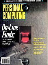 magazine, nostalgic, collectible, Personal Computing 1989-12